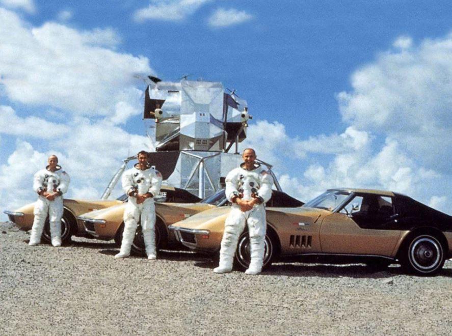 Apollo 12 crew Pete Conrad, Richard F. Gordon Jr., Alan Bean
