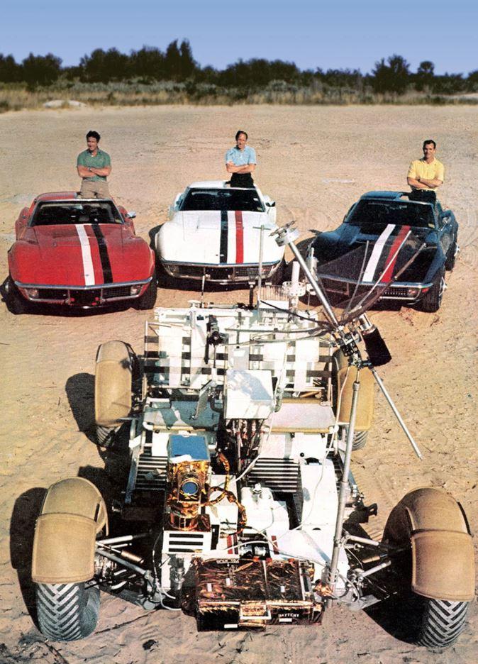 Apollo 15 crew: James Irwin, Alfred Worden, and David Scott