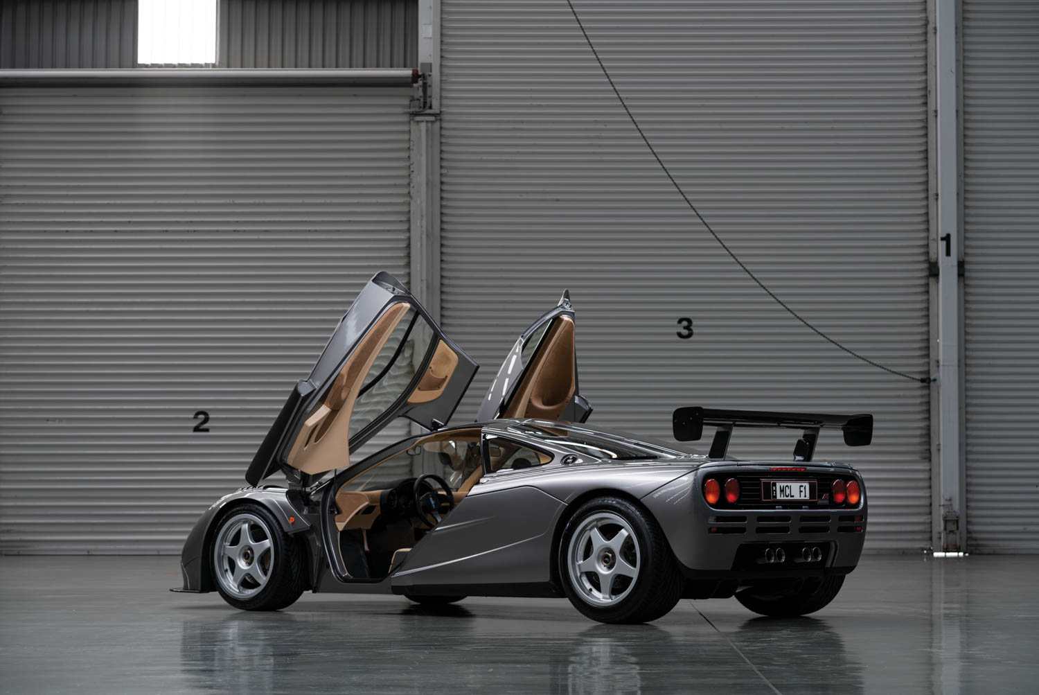 1994 McLaren F1 'LM-Specification' rear 3/4 doors up