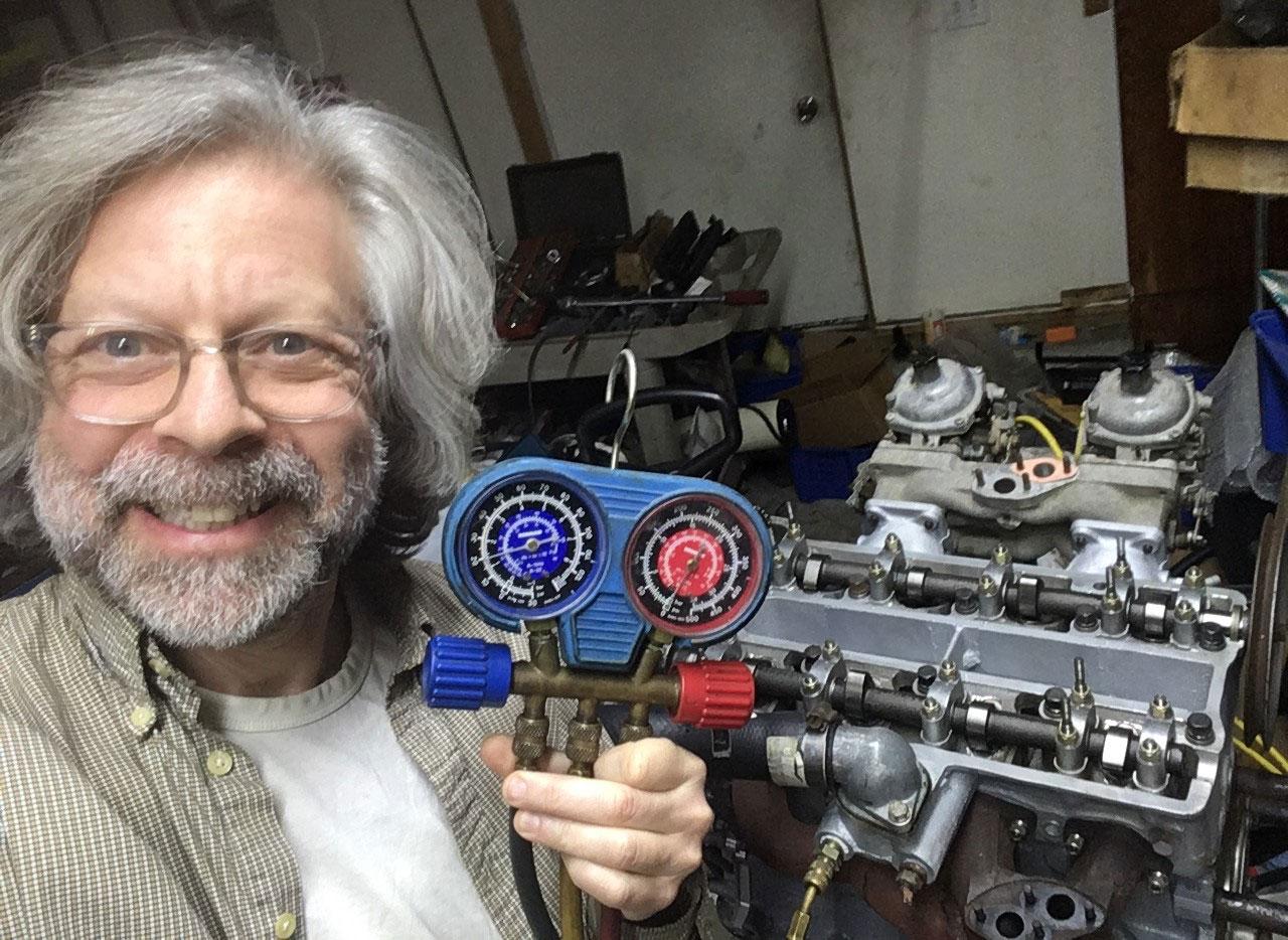 Siegel pressure tested engine