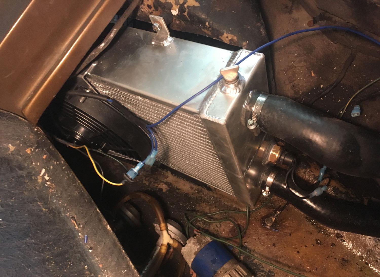 aluminum radiator and fan