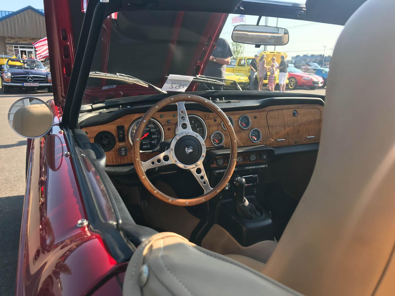 TR6 steering wheel