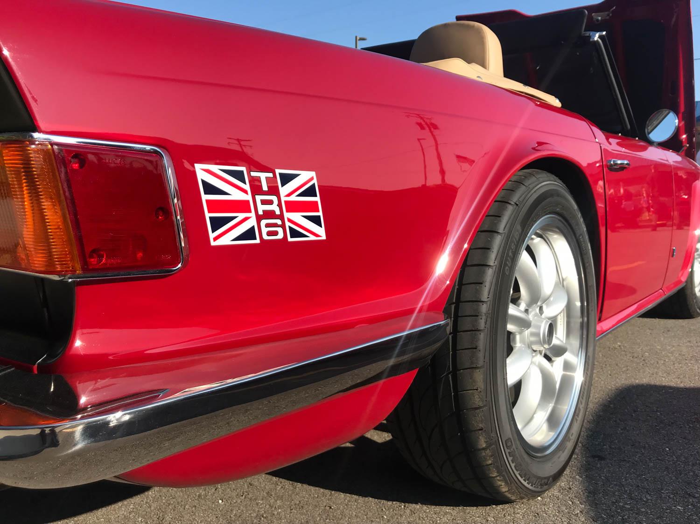 Triumph TR6 badge