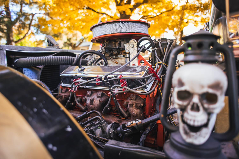 coffin car engine