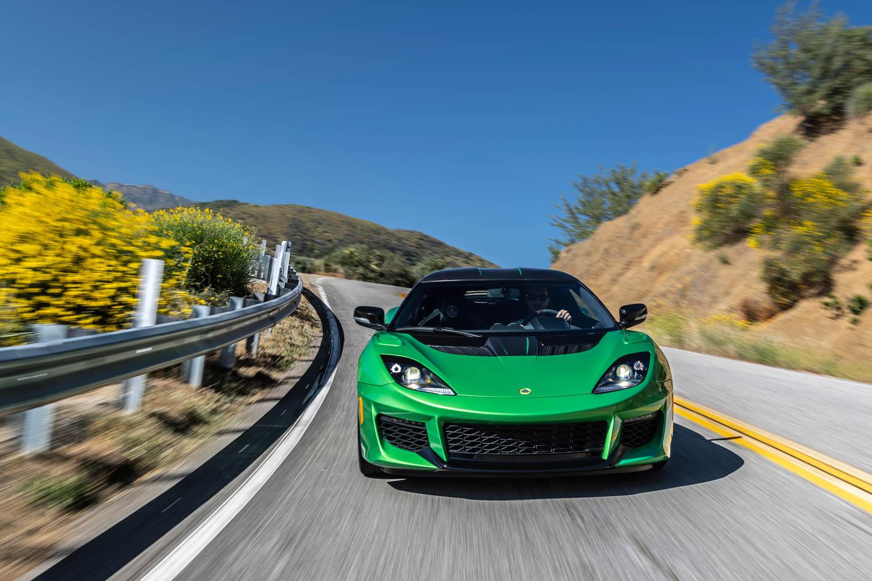 green 2020 Lotus Evora GT front