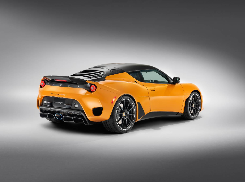 orange 2020 Lotus Evora GT rear 3/4