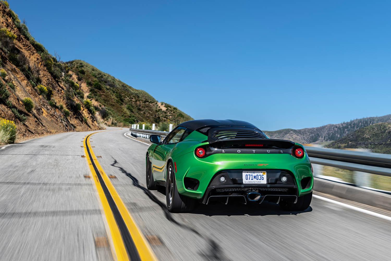 2020 Lotus Evora GT driving rear