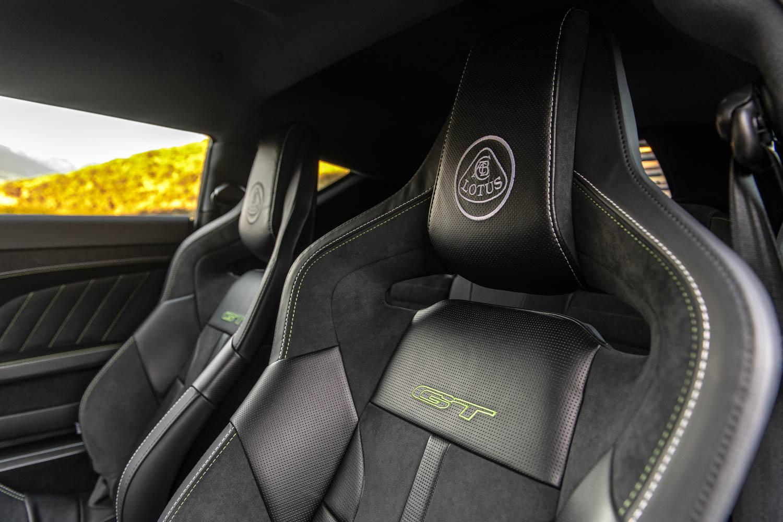 2020 Lotus Evora GT seat detail