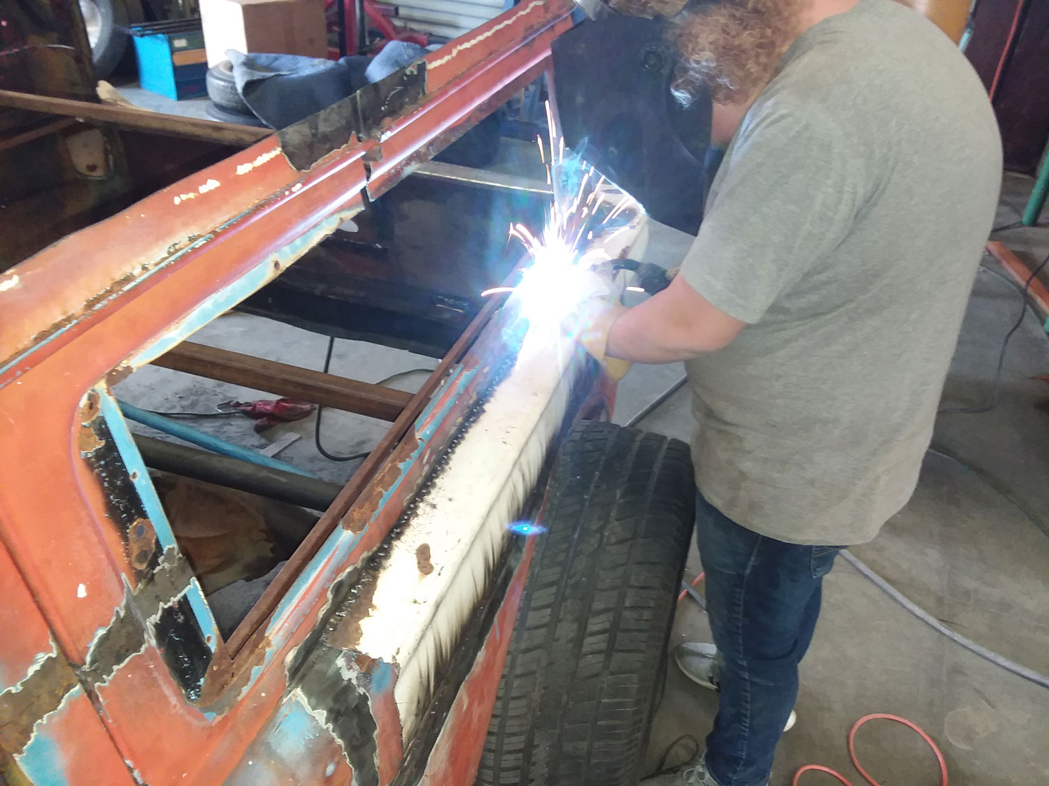 welding action shot