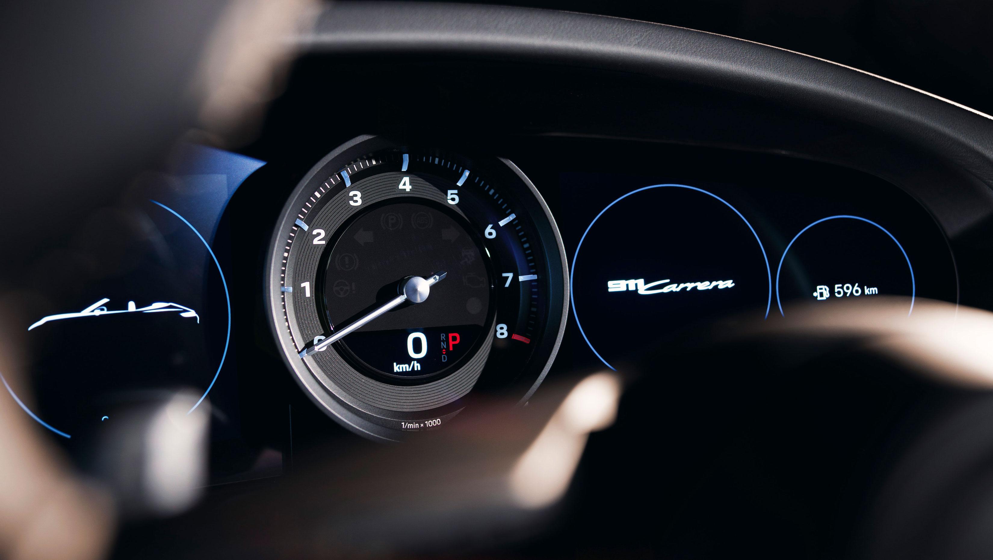 Porsche 911 Carrera gauges