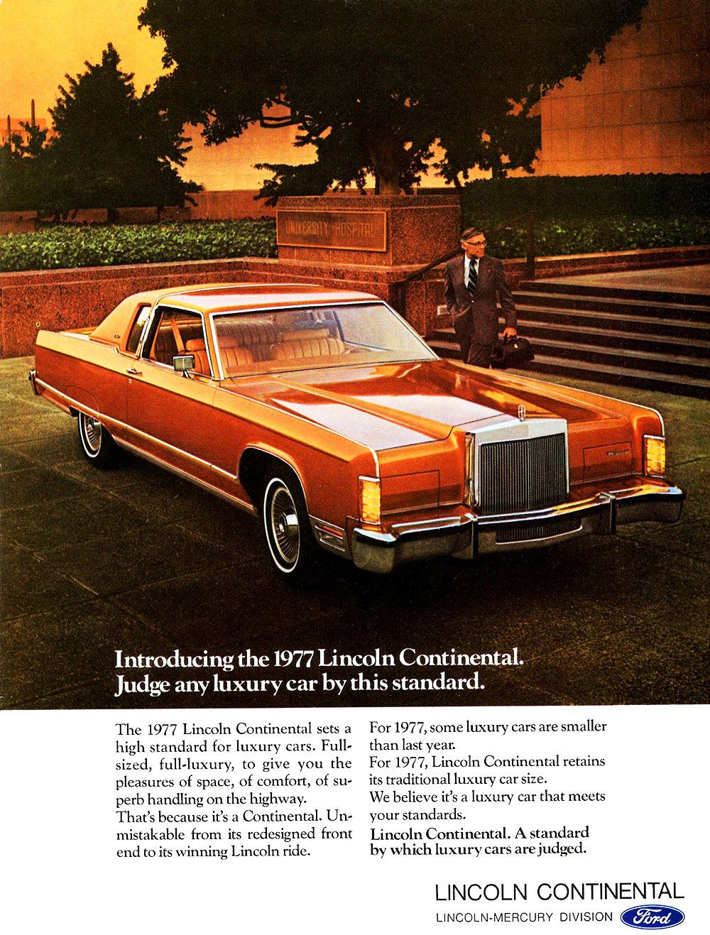 1977 Lincoln Continental advertisement