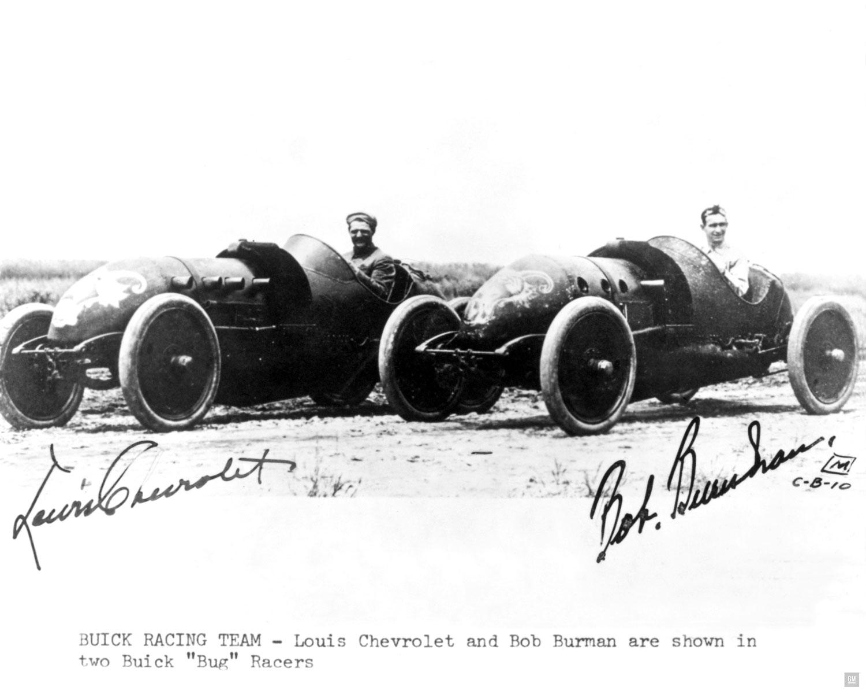 1910 Bugs Louis Chevrolet and Bob Burman