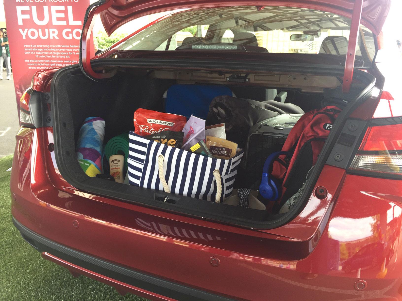 2020 Nissan Versa trunk
