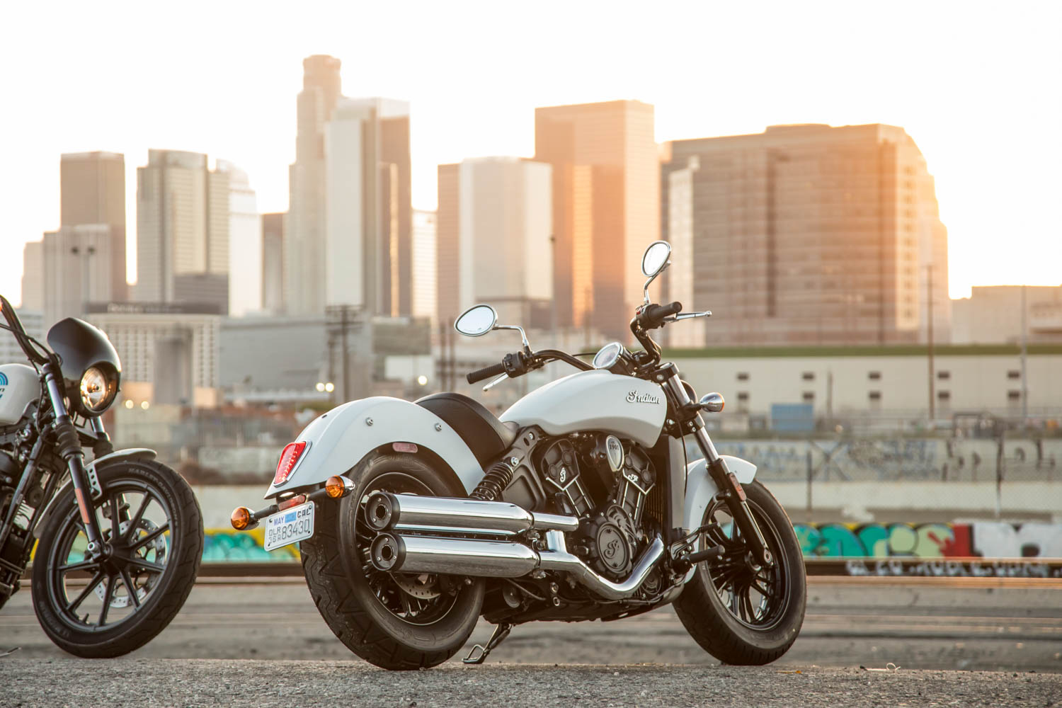 Low, long, and cool, the Scout Sixty looks like it's exhaling through an over-andunder shotgun. It is a thoroughly modern retro cruiser.