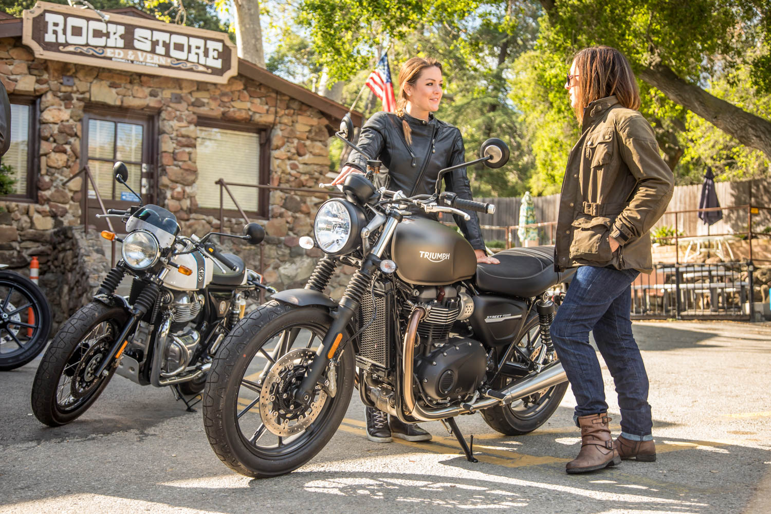 It looks vintage, but the Triumph Street Twin is every inch a modern bike, with ripping performance from its 900-cc parallel-twin, exquisite handling, and upscale components.