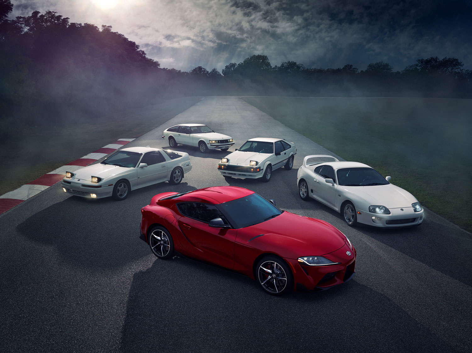five generations of Toyota Supra