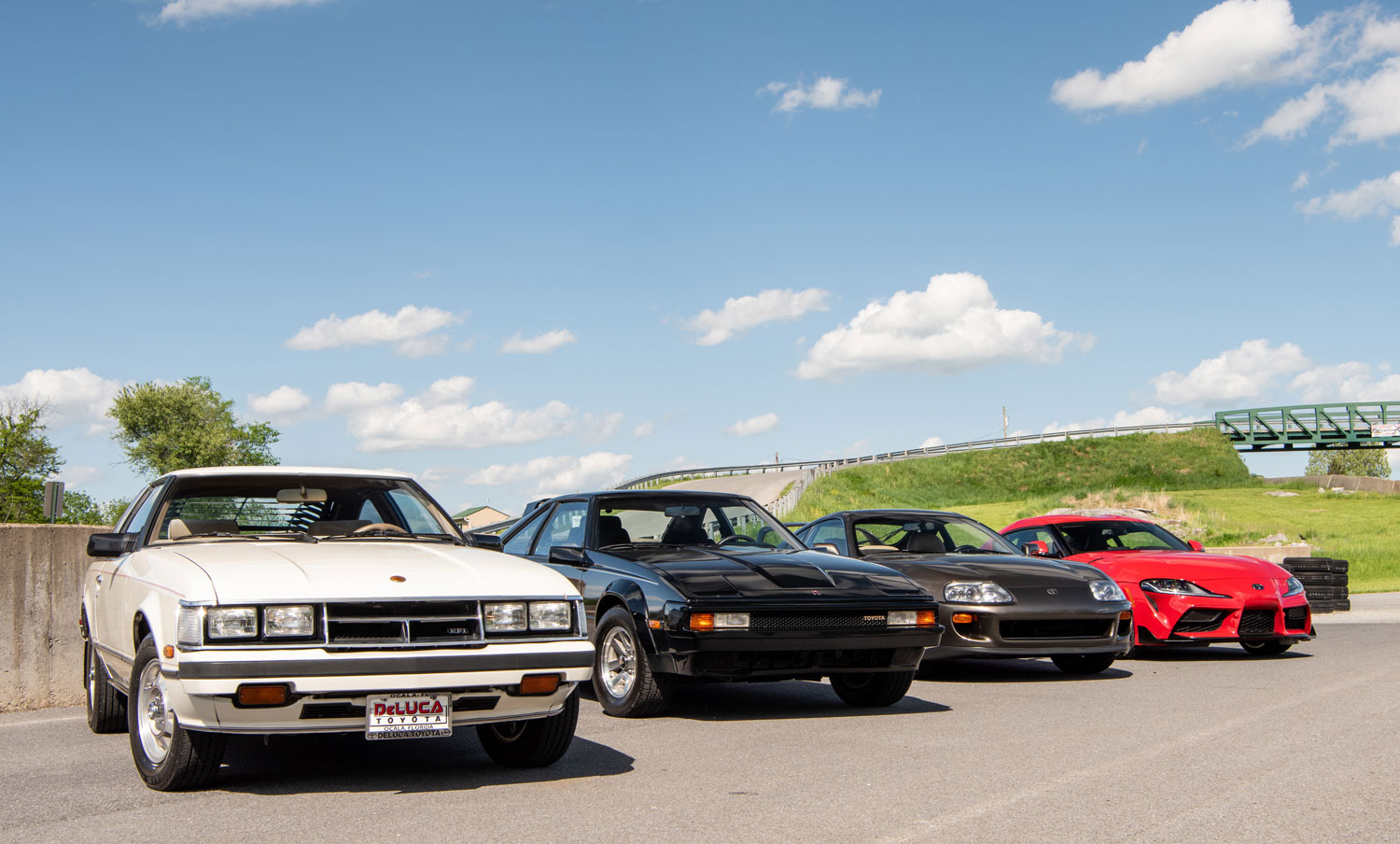 four generations of the Toyota Supra