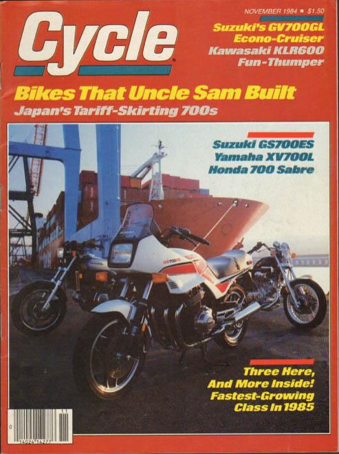 Cycle magazine cover Nov 1984