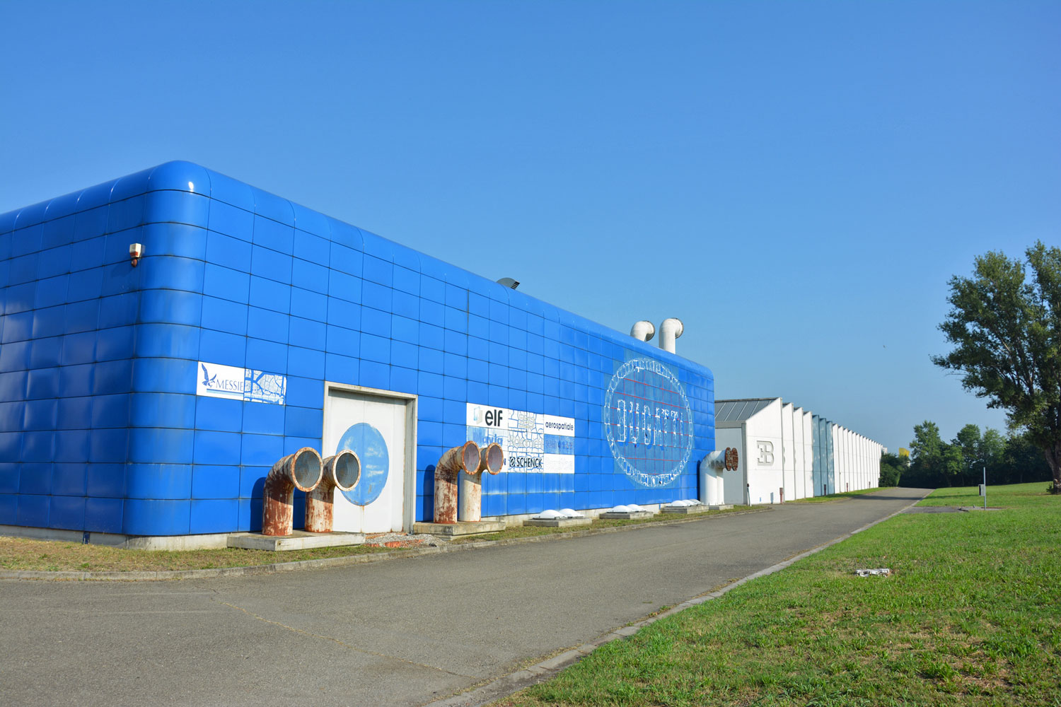 Bugatti's Blue Factory in Campogalliano