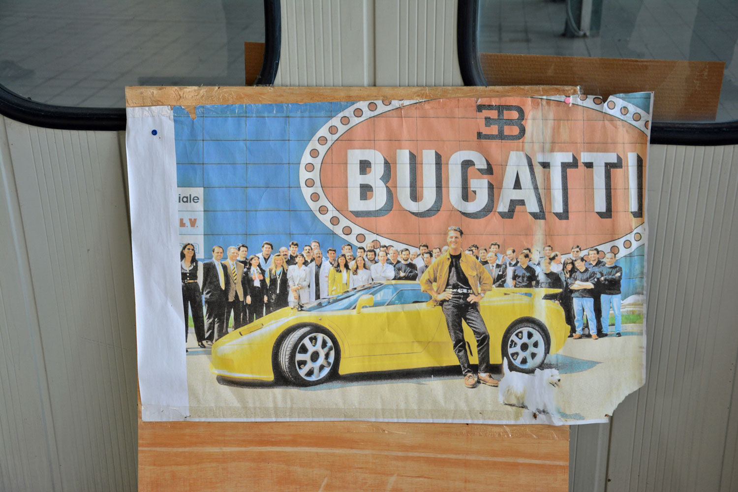 Bugatti advertisement in Campogalliano