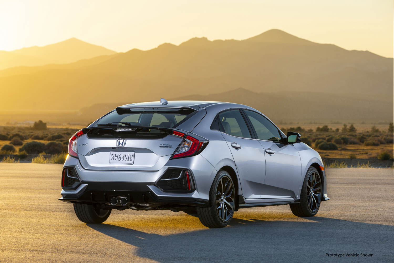2020 Honda Civic Hatchback Sport Touring rear 3/4
