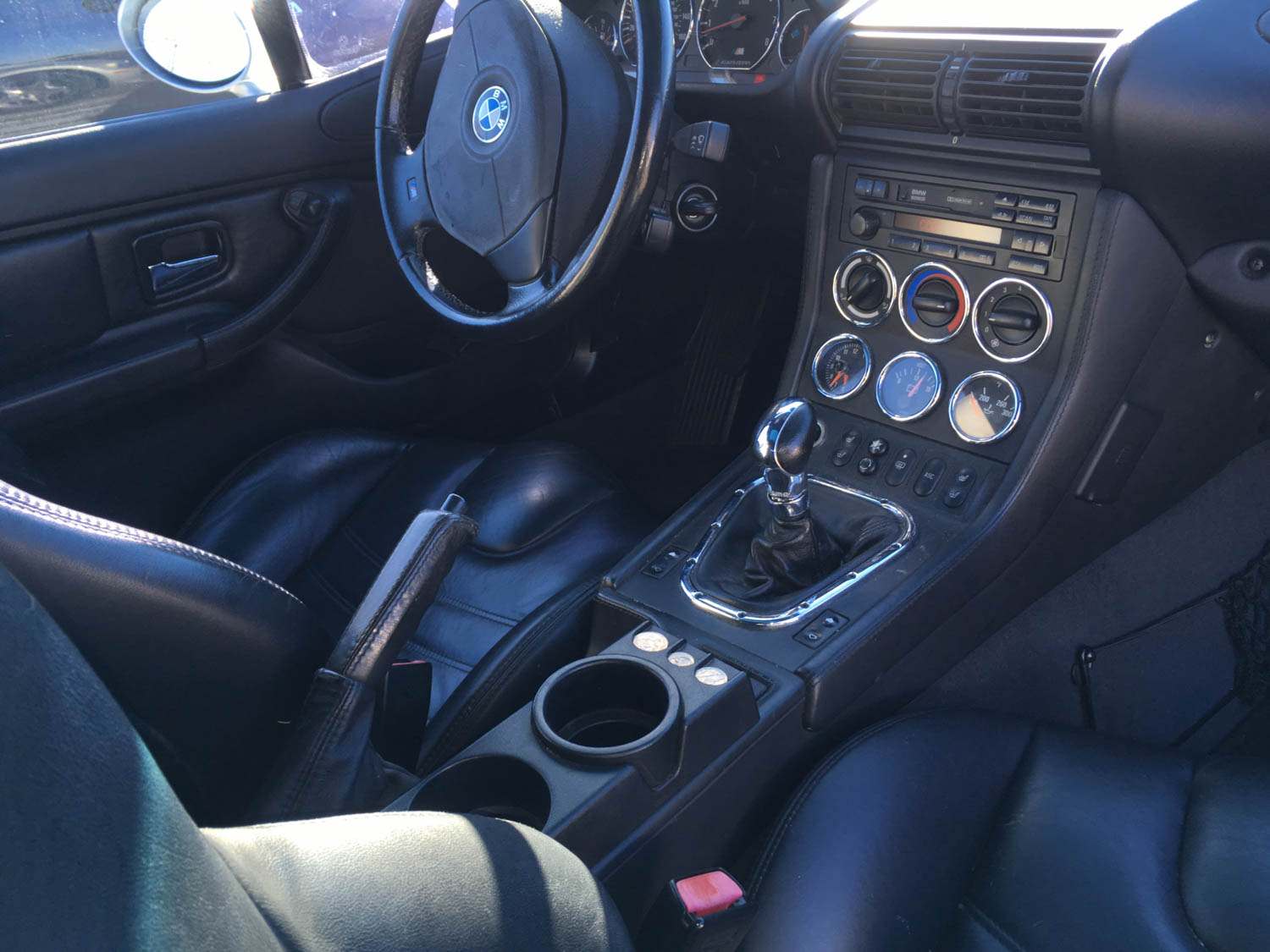 The chrome trim rings make the interior look modern yet retro.