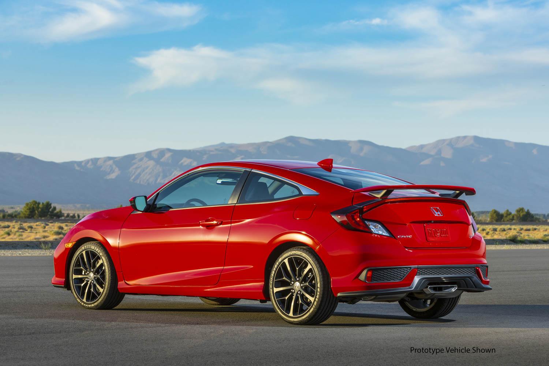2020 Honda Civic Si Coupe rear 3/4
