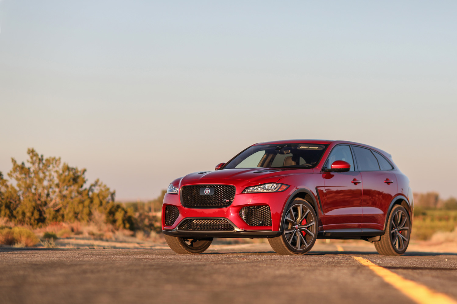 Red 2019 Jaguar F-Pace SVR