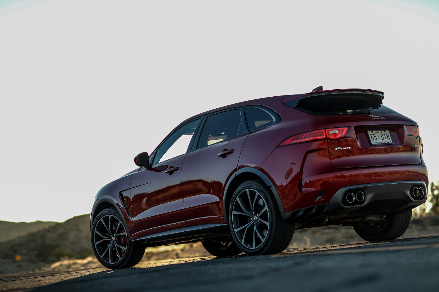 2019 Jaguar F-Pace SVR rear 3/4