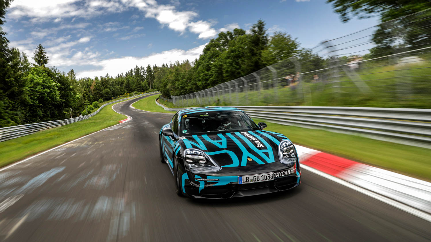 Porsche Taycan prototype sets 'Ring record for EV sports cars thumbnail