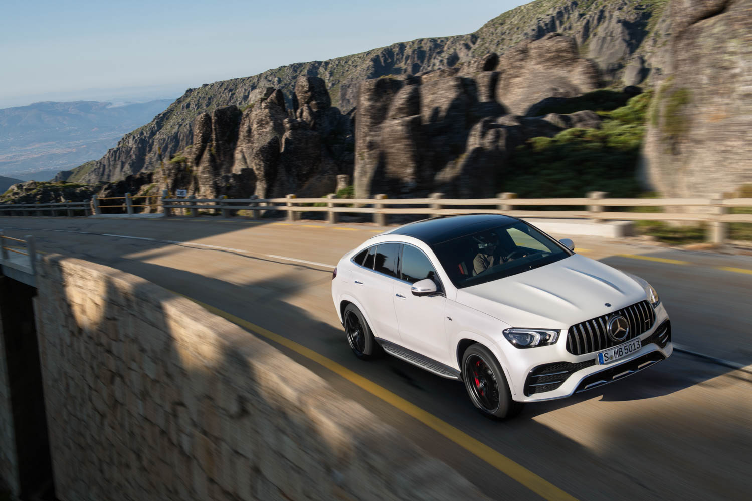 2021 Mercedes-AMG GLE 53 Coupe driving