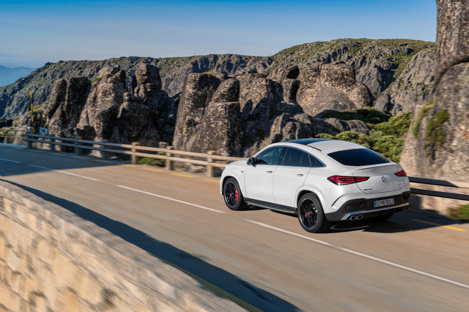 2021 Mercedes-AMG GLE 53 Coupe rear 3/4 driving