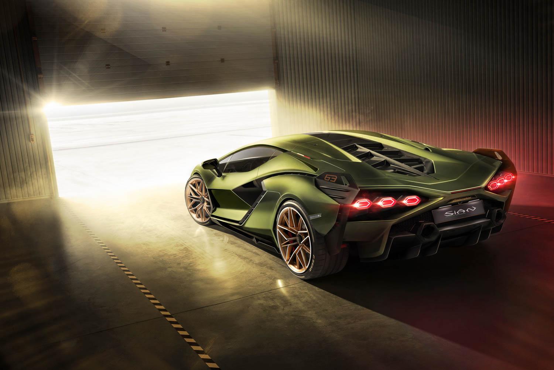 Lamborghini Sián rear 3/4
