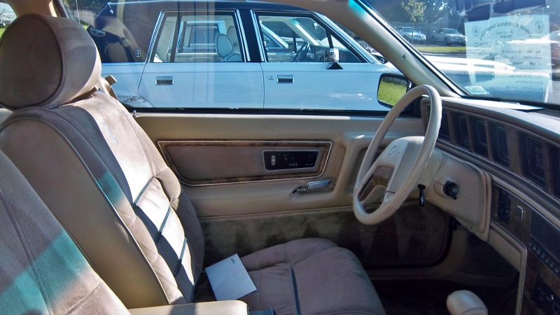 1986 Lincoln Mark VII Bill Blass interior