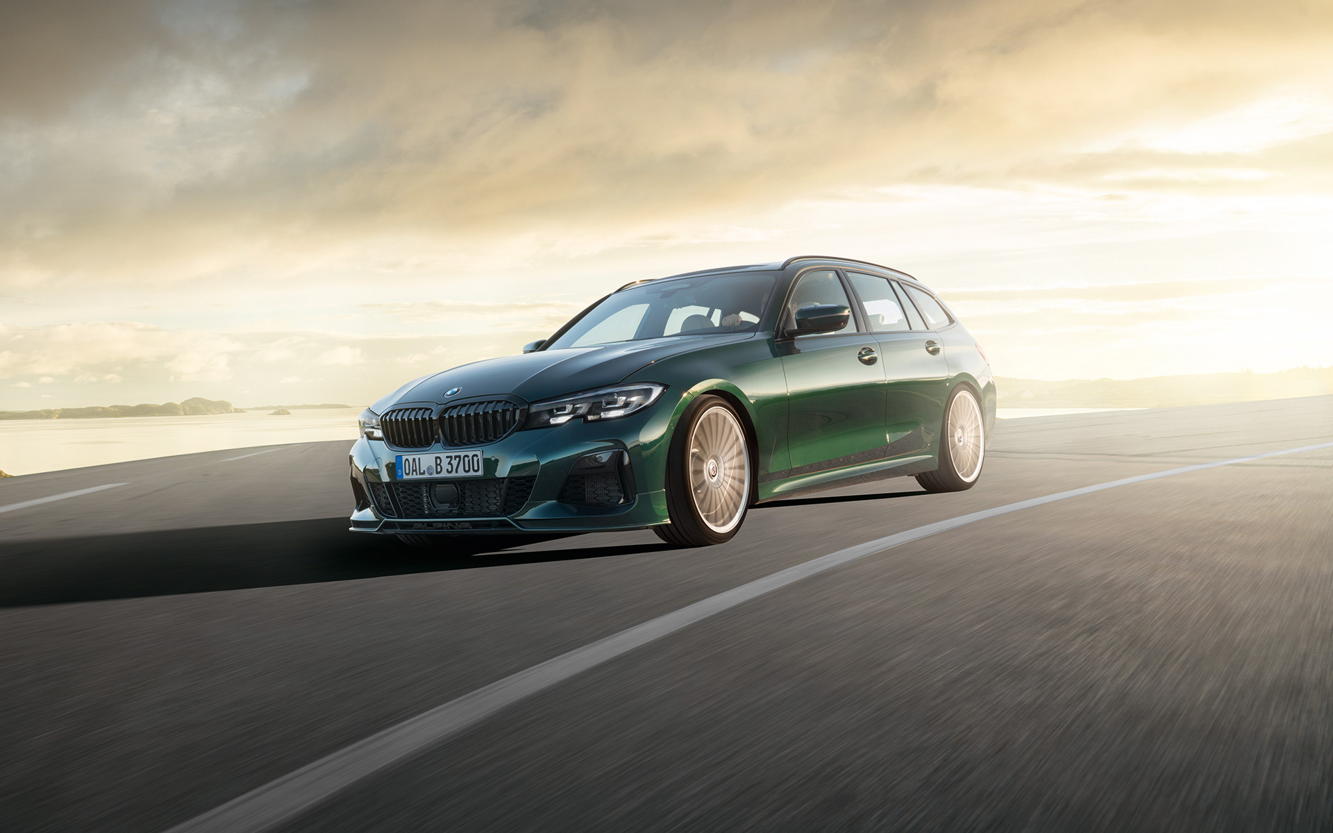 The Alpina B3 Touring is gorgeous, green, and not for us