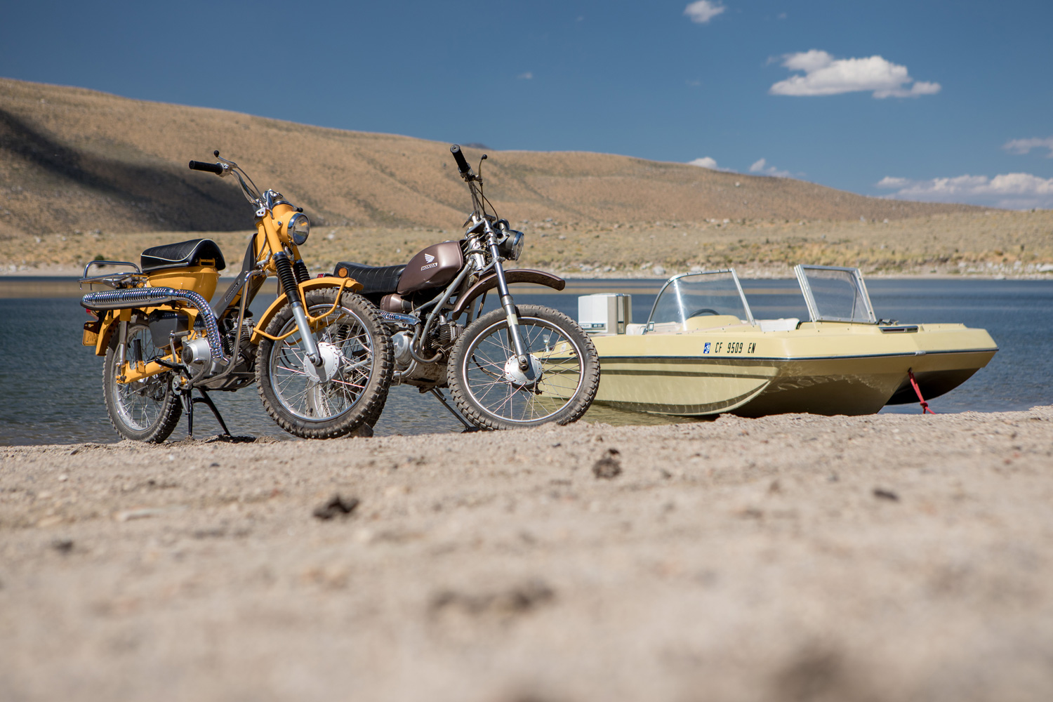 You need the right tools to match your sense of adventure. You can't go wrong with a Craigslist Chrysler boat and a couple of small-displacement trail bikes.