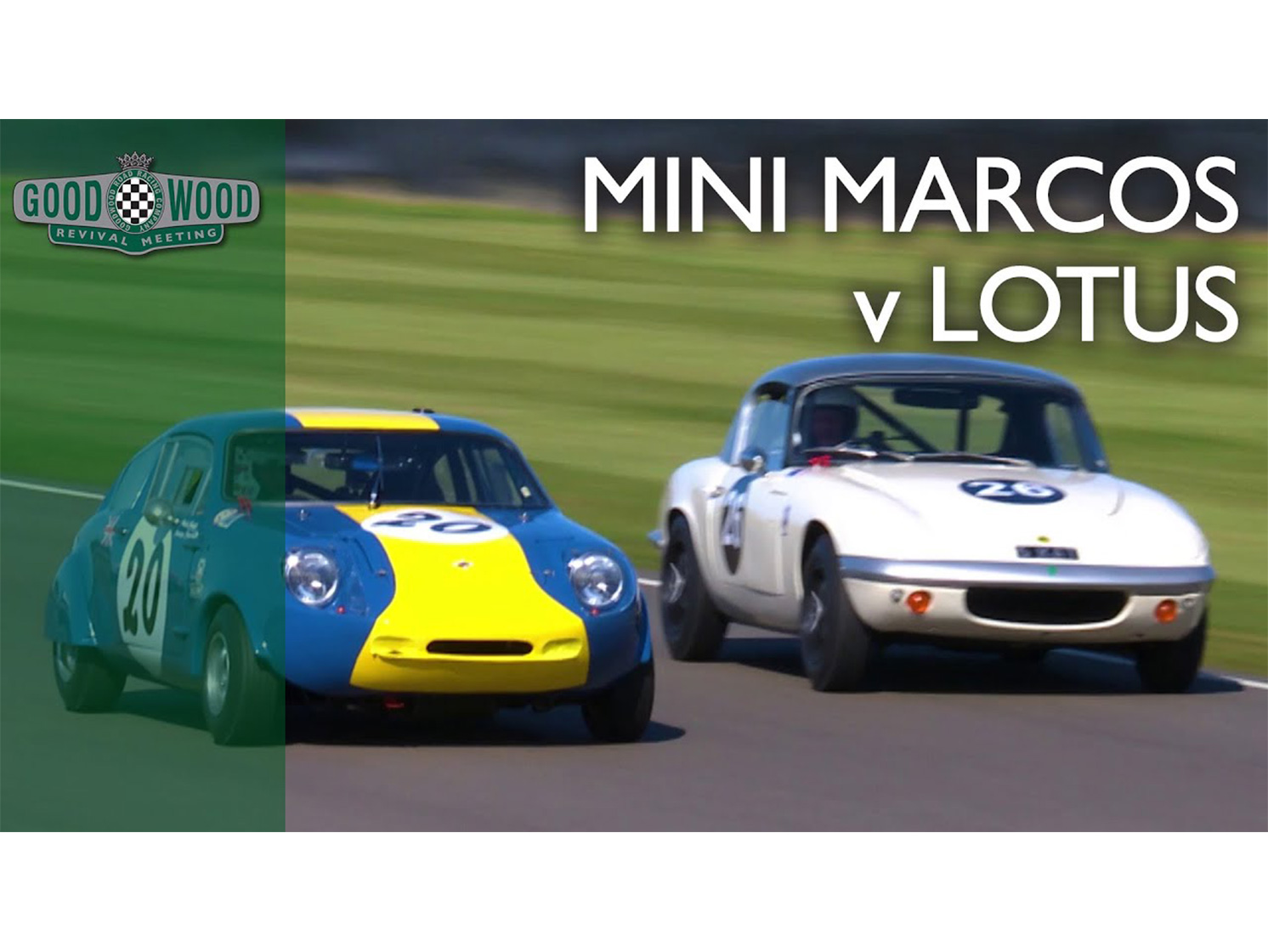 Watch this Lotus and Mini battle like two Davids and no Goliath