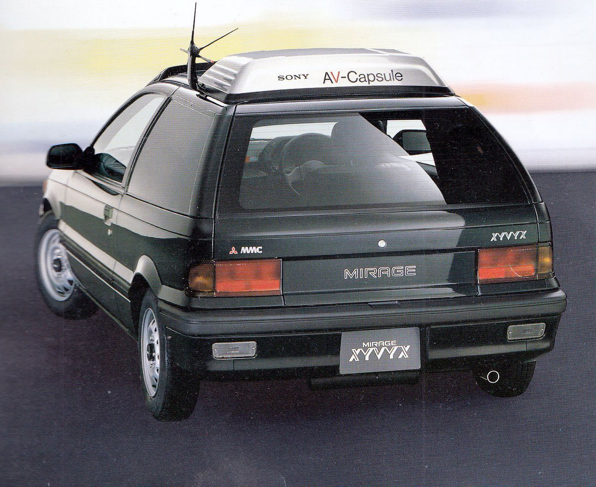 Mitsubishi Mirage rear 3/4
