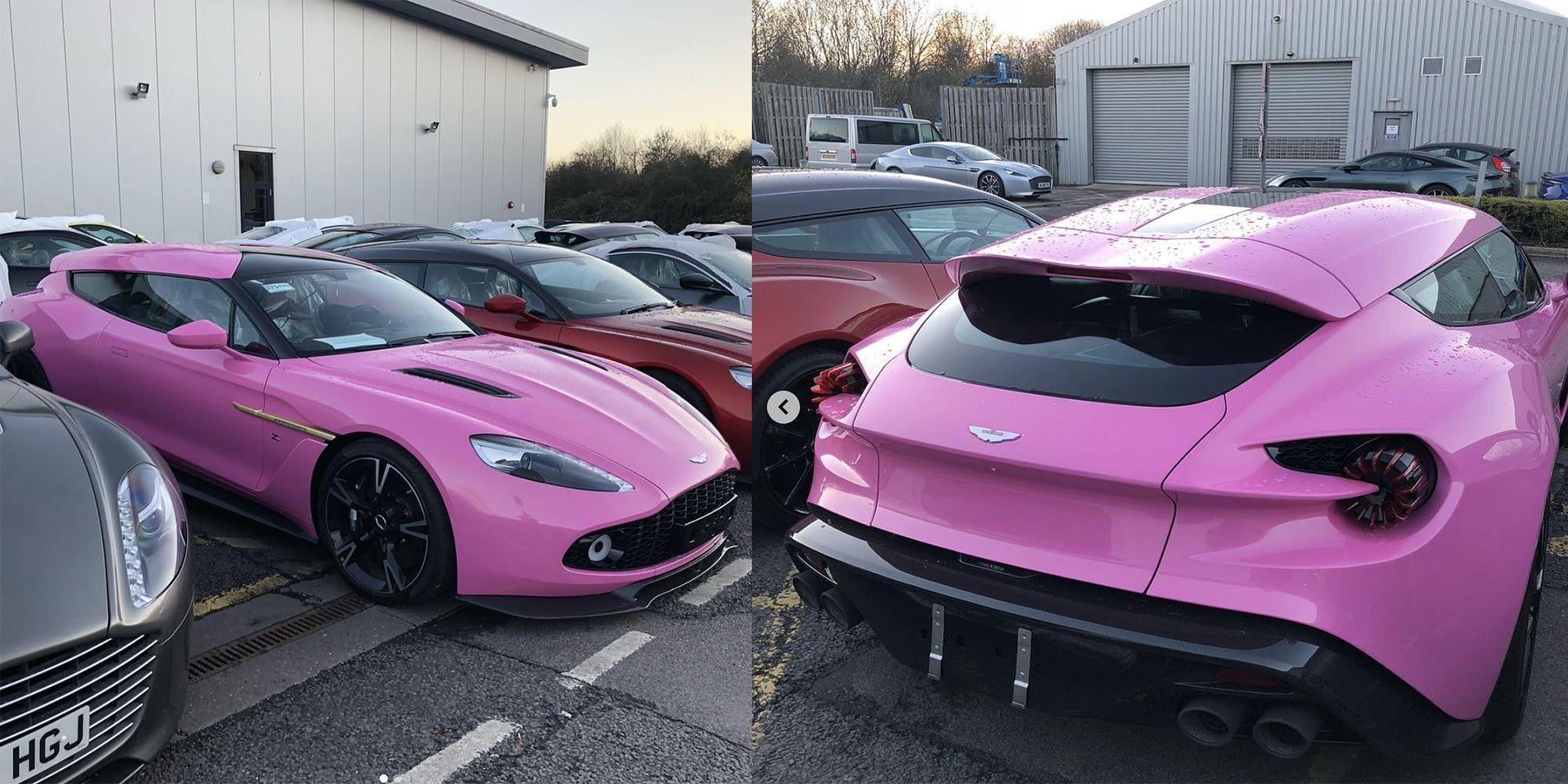 Pink Aston Martin Shooting Break