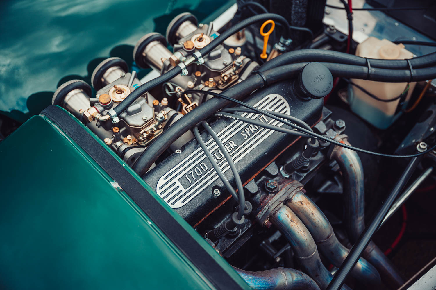From mild to wild, Caterham Sevens come in a variety of tunes. With its 1.6-liter four and dual Webers, this one's 110 horsepower is more than enough to propel the 1300-pound car in grininducing ways.