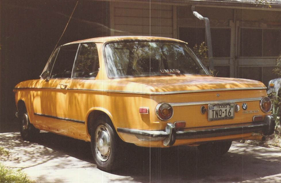 My first BMW 2002, after it was repainted.