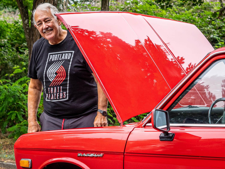 Robert Pinegar with his Datsun 510