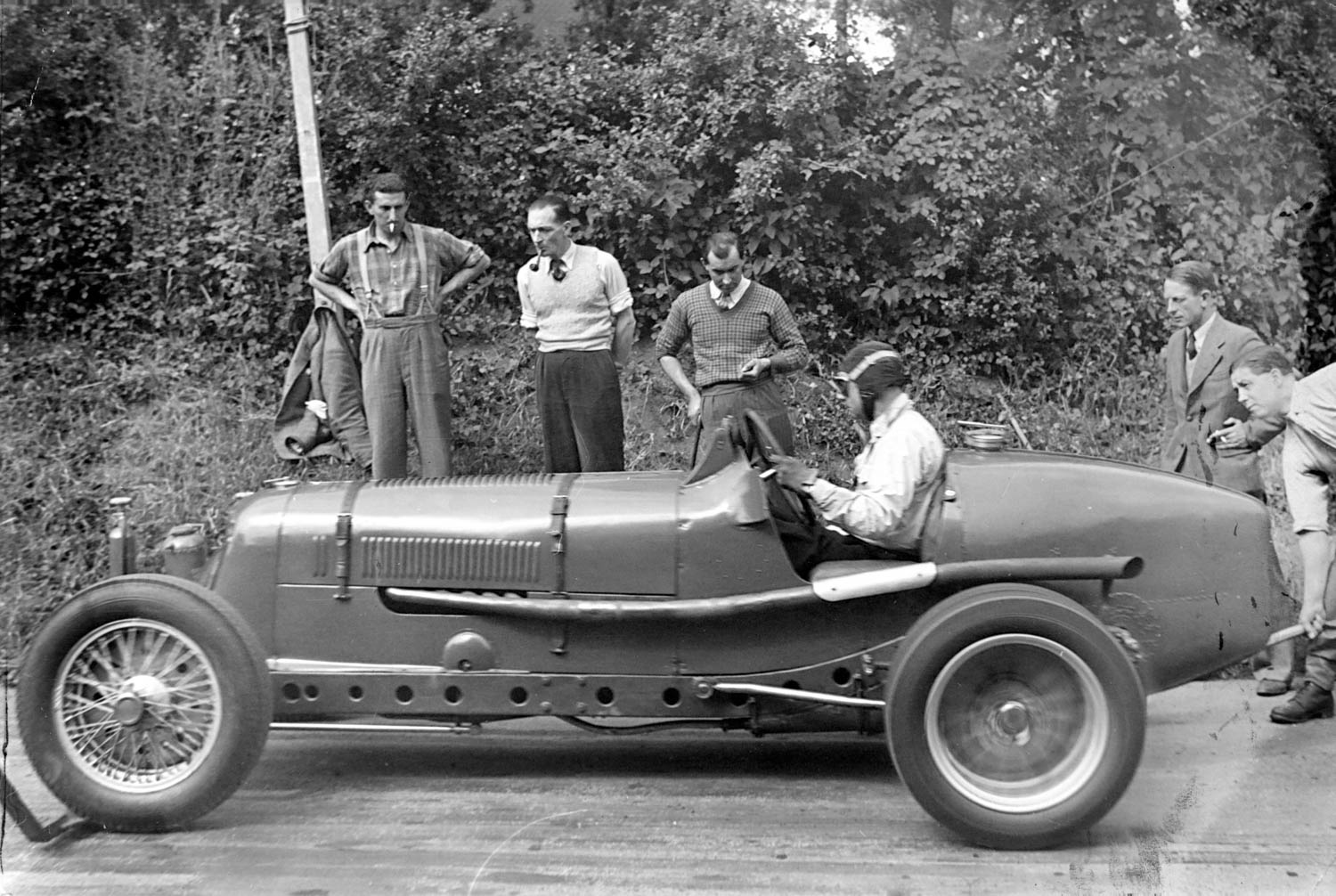 Raymond Mays at the start line in his ERA R4D on June 28, 1938.