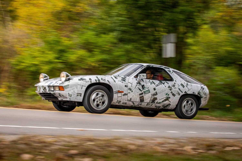 This magazine-clad Porsche 928 art car can go 144 mph thumbnail