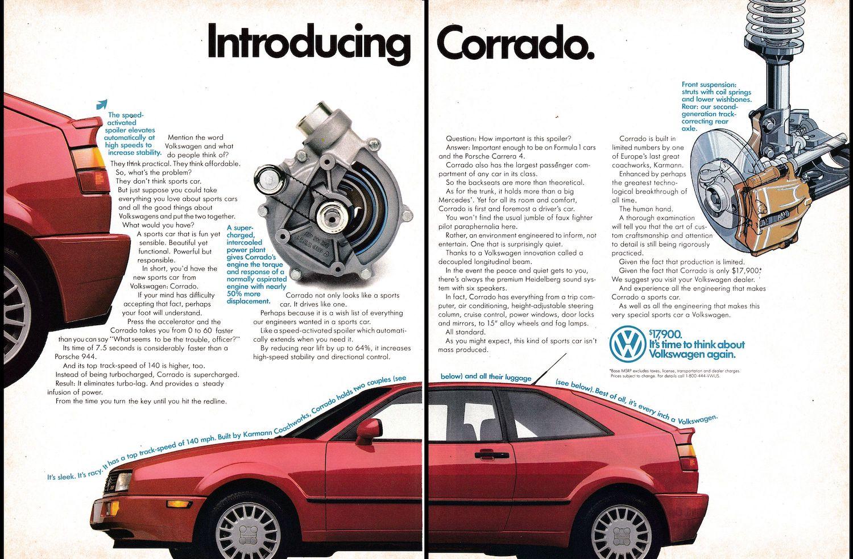 VW Corrado Advertising