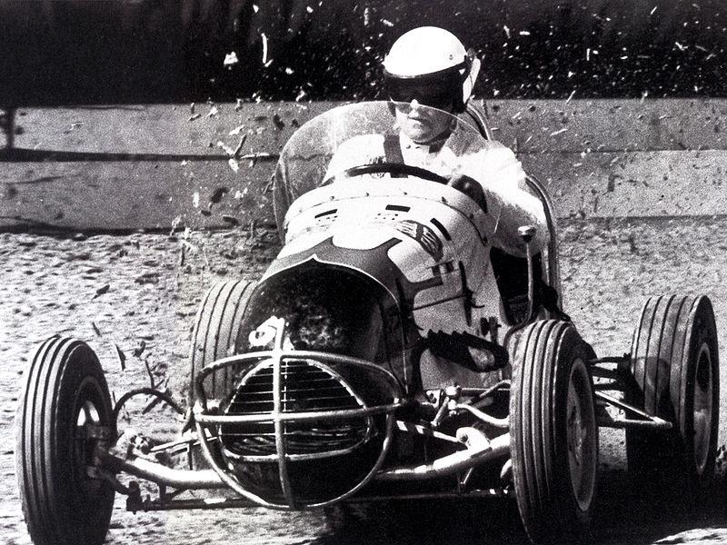 A.J. Foyt driving