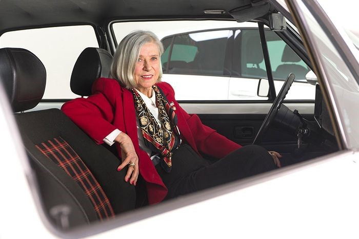 Gunhild Liljequist Volkswagen plaid seats