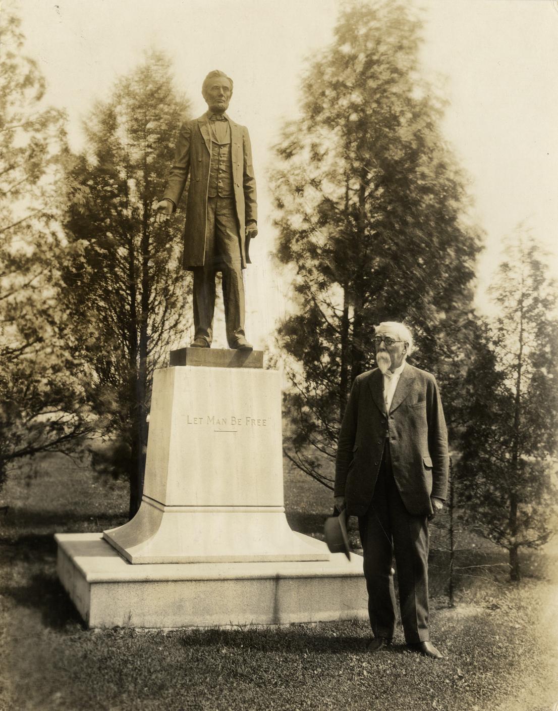 leland near president lincoln statue