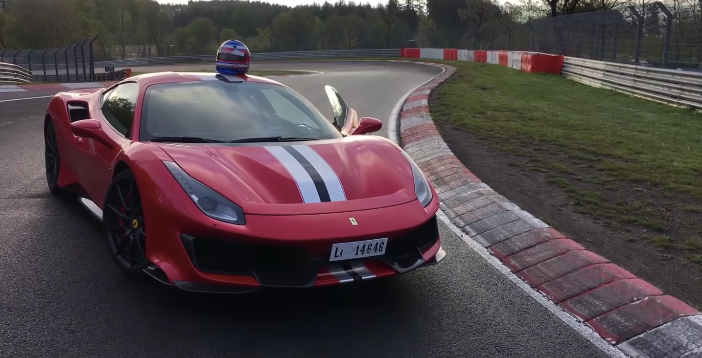 7 minutes around the Nürburgring onboard a Ferrari 488 Pista