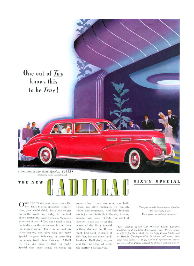 1940 Cadillac ad